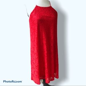 Maurices | Red Fabric Lace Dress